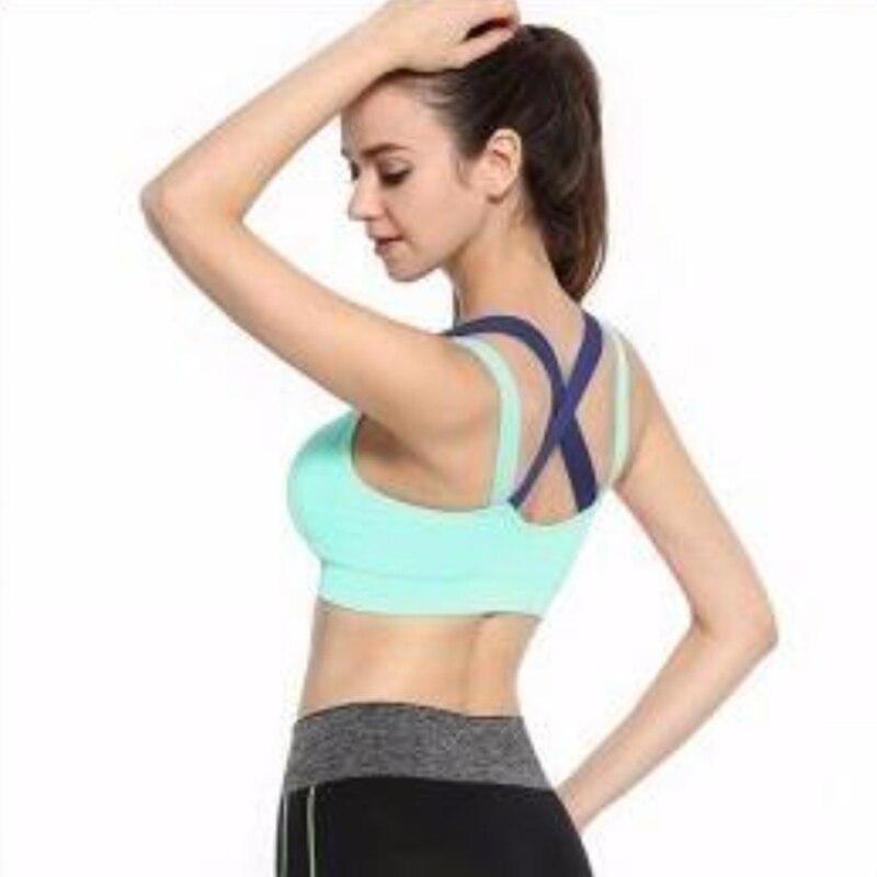 Женский спортивный бюстгальтер с перекрестной спинкой, Дамское дышащее противоударное быстросохнущее бесшовное кольцо для йоги, влагоотводящее нижнее белье - Цвет: G