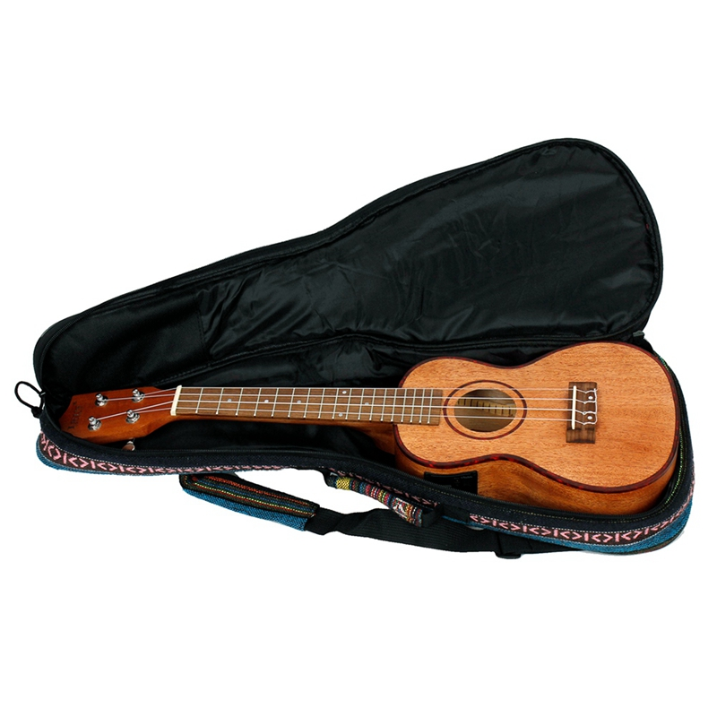 Irin 24 pouces ukulélé Ukelele Uke Kit sapélé bois avec Lcd Eq y compris sac de transport Capo cordes sangle doigt Maraca nettoyage Cl - 4