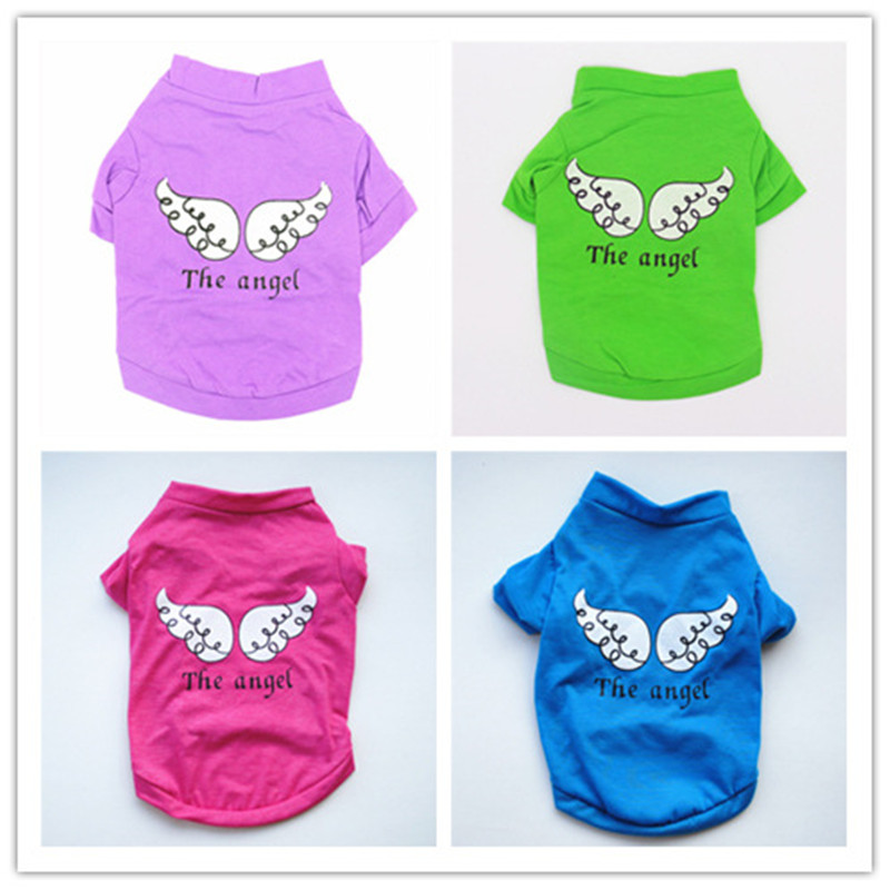 Angel Wings Cute Puppy Clothes Small Dog TShirt Soft Comfortable Xxxs Designer Dog Clothes Summer Dog Clothes for French Bulldog