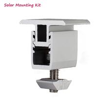 Solar panel montage halterung-kit-zubehör aluminium einstellbare mid klemme für diy solar install auf rooftop haus cheap CN (Herkunft) JTKT40 Aluminum Solar panel mounting