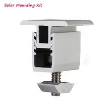 Solar panel mounting bracket- kit - accessories aluminum adjustable mid clamp for diy solar installtion on rooftop house