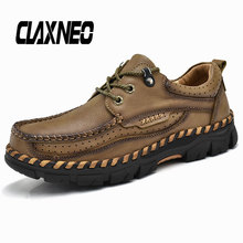 CLAXNEO Man Shoes Genuine Leather Autumn Mens Boot Walking Footwear Male Ankle Boots High Quality цены онлайн