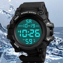 Marka mężczyźni zegarki sportowe męskie kwarcowy LED cyfrowy zegar godziny mężczyzna wojskowy zegarek na rękę wodoodporny Relogio Masculino