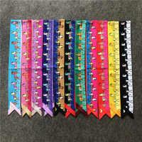 High-end Classic Horse Printed Bag Scarf Silk Scarf Women Small Bag Ribbon Fashion Female Hair Ribbons Handbag Scarves B006