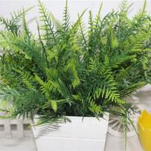 35 Leaves Artificial Emulation Asparagus Fern Bush Green Foliage Party Decor(China)