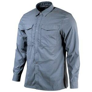 Image 1 - Setor sete 2020 nova camisa tática dos homens camisa militar combate camisa masculina secagem rápida respirável elasticidade casual manga longa