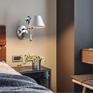 Image 4 - Artpad אמריקאי מודרני נדנדה ארוך זרוע LED גמיש קיר אורות AC90 260V כסף/שחור עין הגנת שינה קיר ליד מיטת מנורה