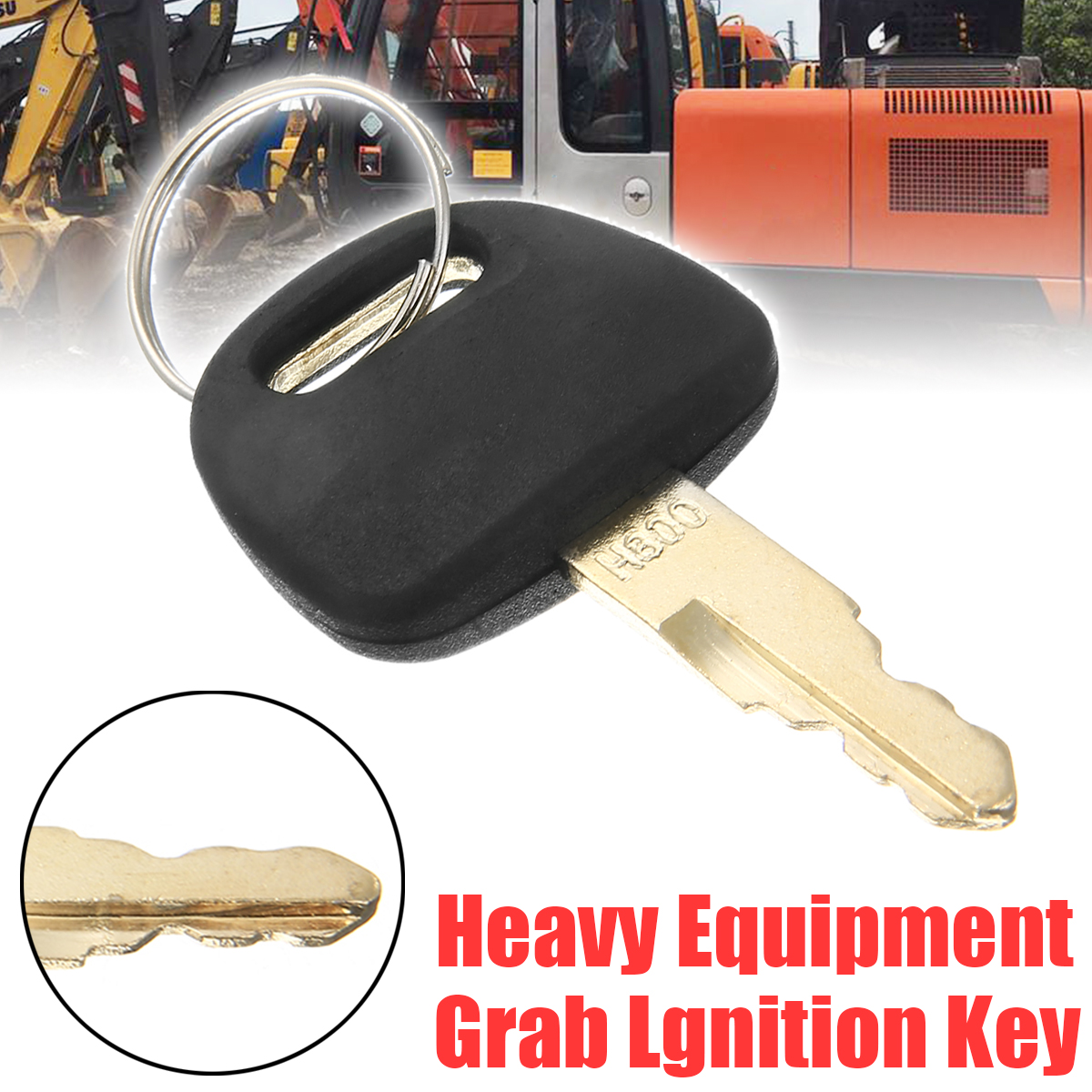 1pc Excavator Accessories Hitachi ZAX Key Durable Newest Heavy Equipment Grab Lgnition Key For Hitachi H800 ZAX Excavator