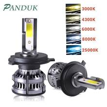 PANDUK MiniรถH4 LED H7 Ledไฟหน้าหลอดไฟH1 H11 LEDโคมไฟH7 12V 6000K 8000K 9005 9006 HB4ไฟหน้าอัตโนมัติหมอกไฟC6