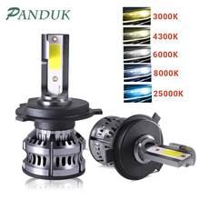 Panduk mini carro h4 led h7 led farol lâmpadas h1 h11 conduziu a lâmpada h7 12v 6000k 8000k 9005 9006 hb4 faróis de nevoeiro kit c6