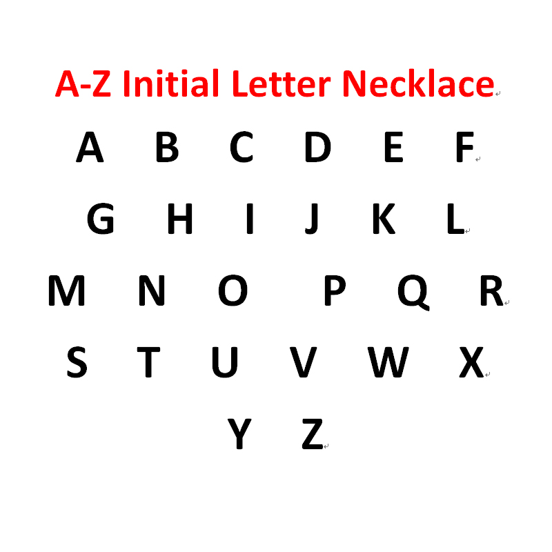 A-Z Initial Letter Anklet For Women