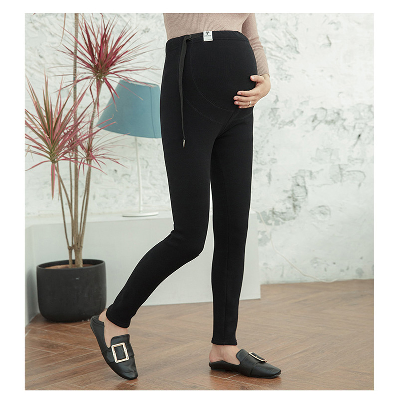 Spring new cotton leggings pregnant women low waist thin section pants maternity