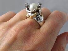 Женское винтажное обручальное кольцо с пресноводным жемчугом