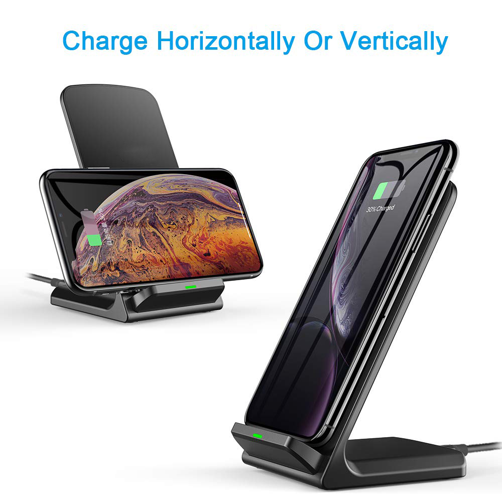 Image 3 - SooPii Wireless Charger 2 Pack,Qi Certified for iPhone 11/11 Pro/XS/X/8/8 Plus, 10W Fast Charging Stand for Galaxy S10 S9 S8Mobile Phone Chargers   -