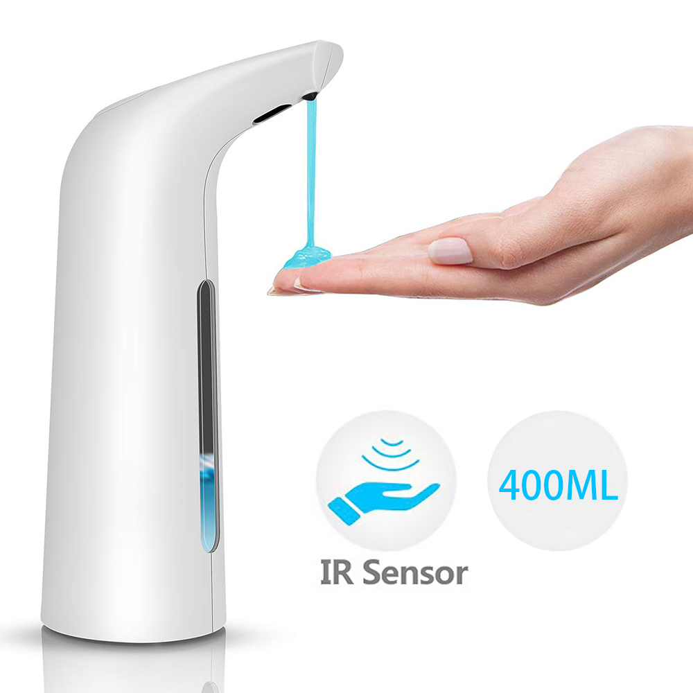 Hdb5bed810ce245aaa79d038588f16609k 400ml Automatic Liquid Soap Dispenser Touchless Infrared Sensor Sanitizer Shampoo Dispenser Container Soap Bottle for Bathroom