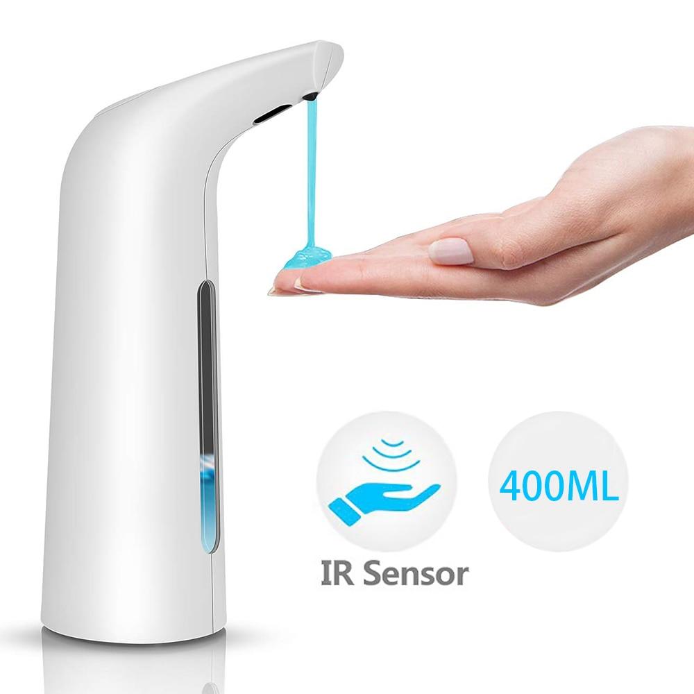 400ml Automatic Liquid Soap Dispenser Touchless Infrared Sensor Sanitizer Shampoo Dispenser Container Soap Bottle for Bathroom Innrech Market.com