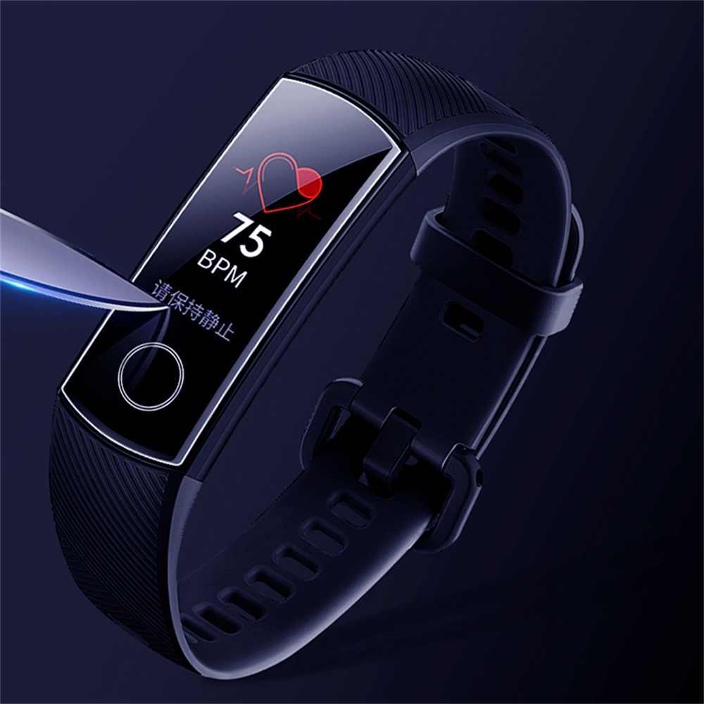 1/3/5 個超クリア 9H ソフト TPU HD アンチショック保護フィルム Huawei 社名誉バンド 4 Band4 スマート腕時計フルスクリーンプロテクター