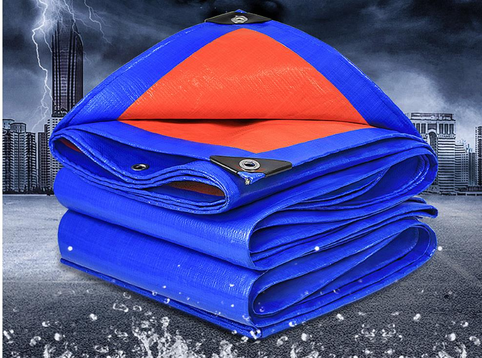 2mX3m Blue And Orange Outdoor Commodity Cover Cloth , Waterproof Material, Rain Material, Truck Tarp.