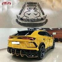 Dry Carbon fiber Front Rear Bumper Lip Spoiler Side Skirts Wheel eyebrow Air Vent Trunk Trims case For Lamborghini Urus Body Kit