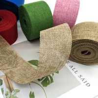 10 Meters/Roll handmade DIY Ribbon Christmas decorations hemp cloth colored woven linen rolls garment wedding accessories