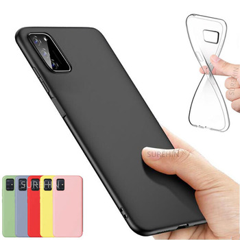 цена на soft case for Samsung galaxy A41 cover black red green yellow pink clear transparent silicone cover for samsung galaxy A41 case