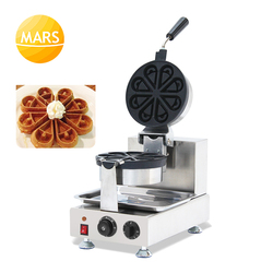 Catering Equipment Electric Flower Shapes Waffle Iron Machine Baker Non-stick Cooking Plates Rotating Waffle Maker 110V 220V