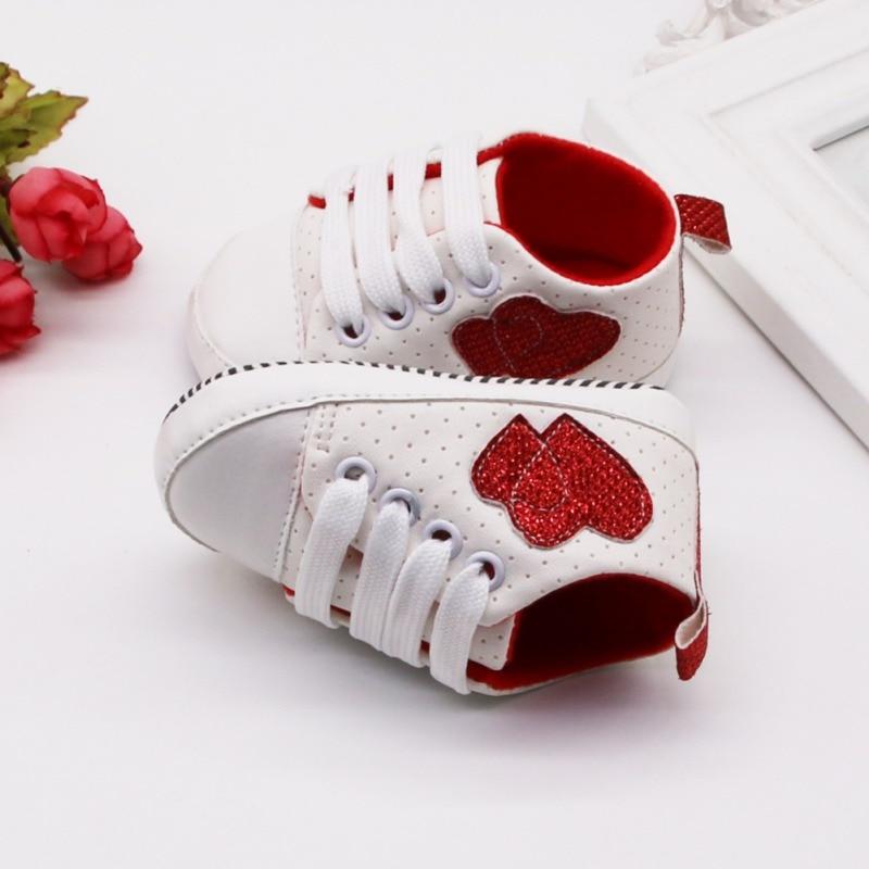 Fashion Infant Kid Boy Girl Heart Pattern Shoes Soft Sole Canvas Sneaker Toddler Shoes Baby Girl Walking Shoes Bebek Ayakkabi