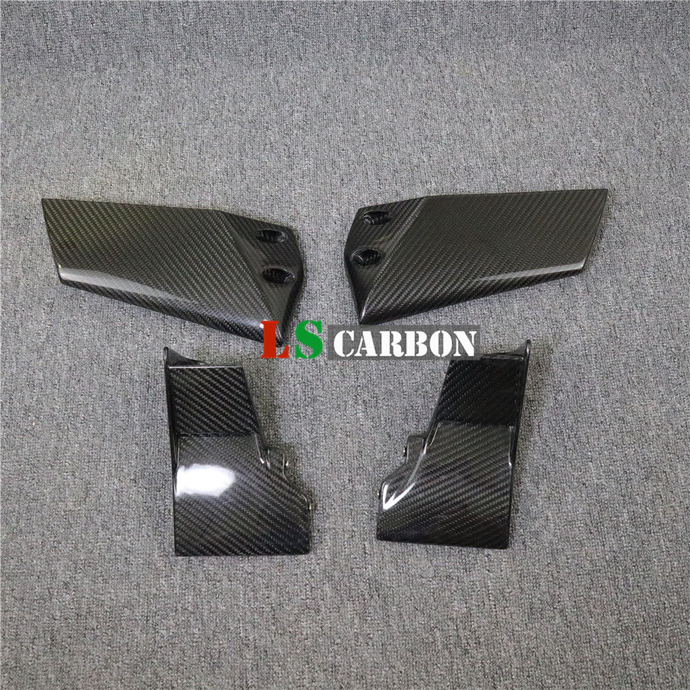 Full Carbon Fiber Motorcycle Accessories Lower Upper Winglets For Kawasaki H2