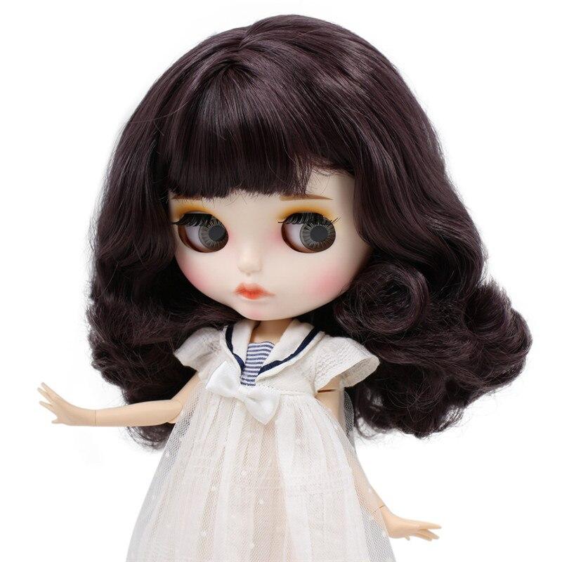 Oyuncaklar ve Hobi Ürünleri'ten Bebekler'de BUZLU Çıplak Blyth Doll No. BL9219 Derin Mor saç Oyma dudaklar Mat özelleştirilmiş yüz Ortak vücut 1/6 bjd'da  Grup 1