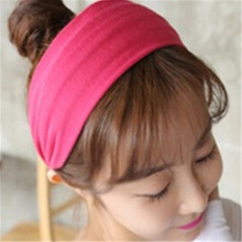 Hot Korean Cotton Casual Hair Band For women Headband Female Yoga wide-brimmed elastic Accessories