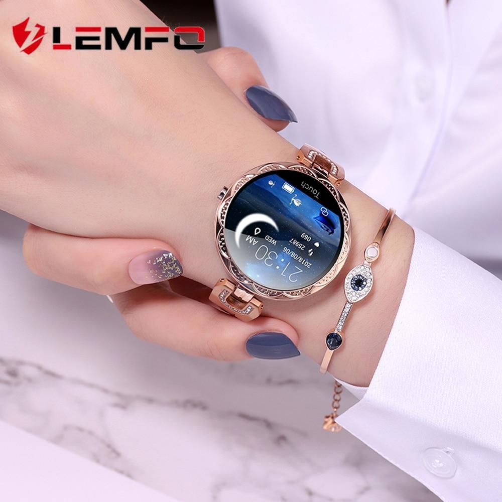 LEMFO Fashion Women Smart Watch Waterproof Heart Rate Blood Pressure Monitor Smartwatch Gift For Ladies Watch Bracelet(China)