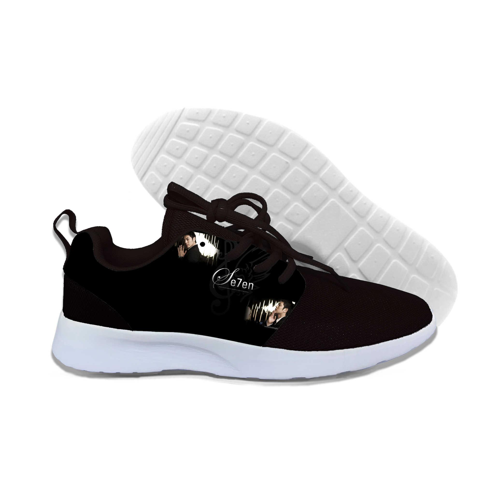 Se7En Movie Poster Brad Pitt Harajuku3D Print Sneakers Black And White Men/women Lightweight Shoes