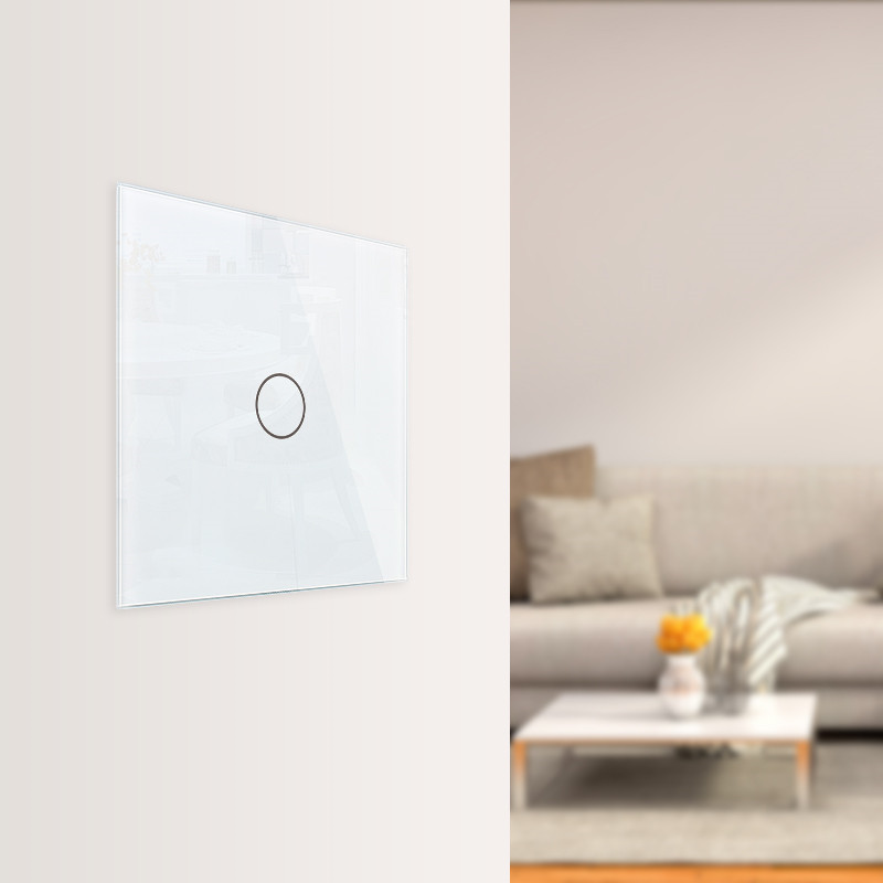 Livolo luxury Wall Touch Sensor Switch,EU Standard Light Switch,Crystal Glass switch power,1Gang 1Way Switch,220-250,C701-1/2/5 3