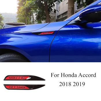 1 Pair ABS Emblem 3D Car Stickers Body Flank Badge For Honda Accord 10th 2018 2019 Exterior Decoration Accessories