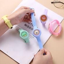Новый репеллент милый мультфильм браслет часы дети ребенок анти
