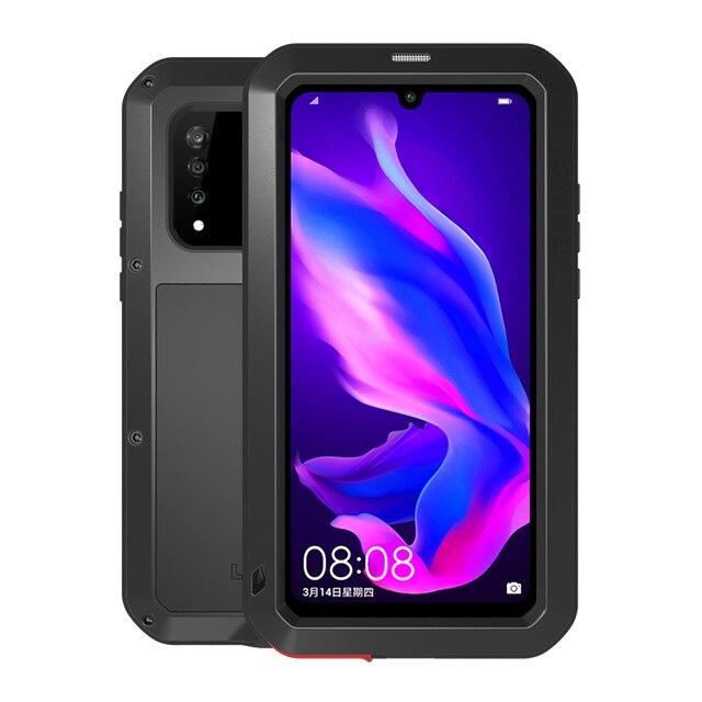 صدمات حافظة لهاتف Huawei P30 لايت المعادن Fundas لهواوي P30 برو درع الهاتف غطاء لهواوي P30 وعرة حالة P30 برو كابا