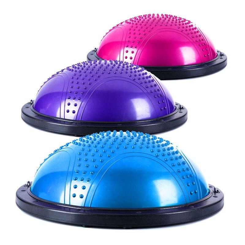 Explosion-Proof Yoga Wave Velocity Ball Semicircle Balance Ball Fitness Half-ball Yoga Instrument Bosu Ball Rehabilitation Train