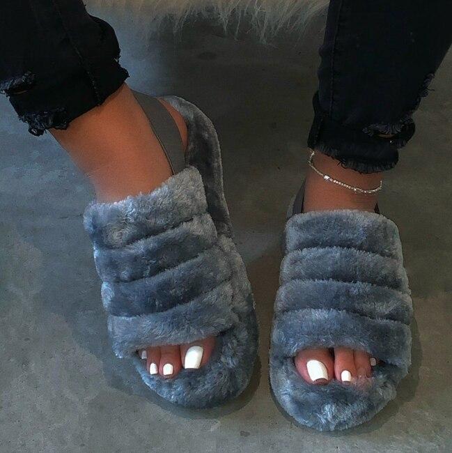 Yeni kadın bahar peluş terlik 2020 ms düz tabanlı antiskid kapalı all-around rahat sandalet açık eğlence kadın