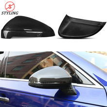все цены на A5 Dry Carbon Fiber Mirror Cover For Audi S5 A4 B9 Rear View Mirror Cover caps Replacement & Add on style 2016 2017 2018 2019