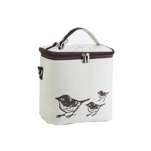 Animal Pattern Lunch Box Portable Insulated Canvas Lunch Bag Thermal Food Picnic Lunch Bags Large Capacity Hot Sale(China)