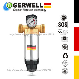 """German technology Pre Filter (WSP70) Reusable Whole House Spin Down Sediment Water Filter 40 Micron 1/2+1 """"&3/4""""+1 """"(China)"""