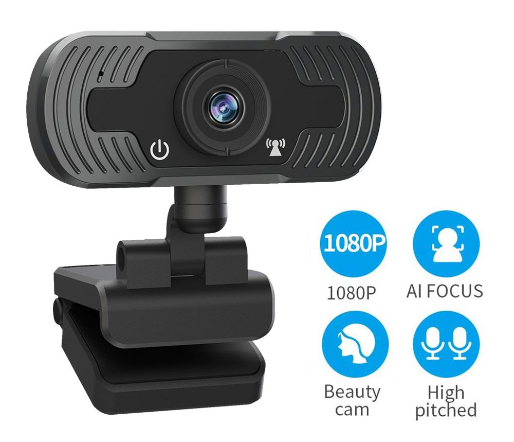 SDETER 1080P Mini Webcam HD Video Call Web Camera With Built-in Microphone USB Plug & Play Web Cam Widescreen For Skype Computer