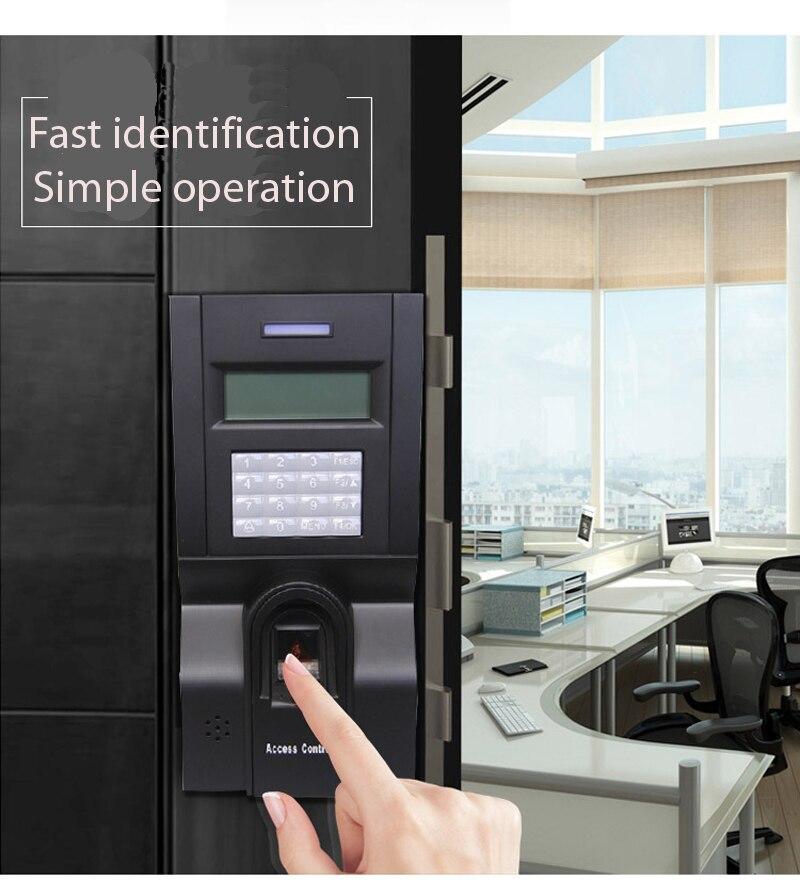 Door Access Control Terminal ZK F8 Fingerprint Access control With 125K RFID Card TCP/IP Fingerprint Time Clock
