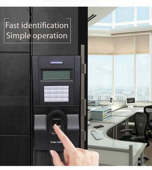 Kontrola dostępu do drzwi Terminal ZK F8 kontrola dostępu za pomocą odcisków palców z 125K karta RFID tcp ip zegar ze skanerem linii papilarnych tanie i dobre opinie natheprotect CN (pochodzenie) 3000 100000 TCP IP RS232 RS485