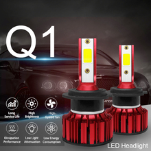 2pcs Q1 LED Headlight H7 12000LM 6000K 120W COB Car Kit Hi or Lo Light Bulb car accessories for Cars