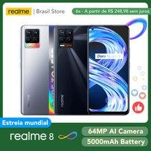 Realme 8 6GB 128GB küresel sürüm-30W şarj Helio G95 6.4
