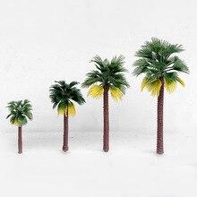 10 шт. архитектурный пейзаж модель торт украшение мини Кокосовая пальма тропический лес пластик парк скамейка модель Microview Декор