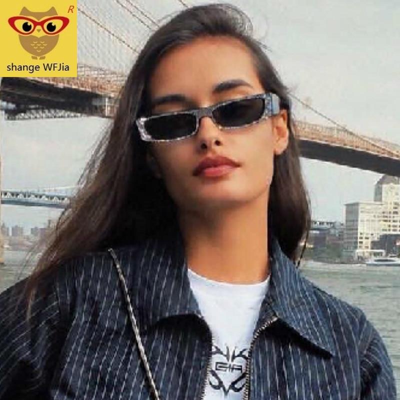 Diamond Square Sunglasses Women Brand Small Size Crystal Sun Glasses Ladies 2019 New Gradient Oculos Mirror Shades UV400