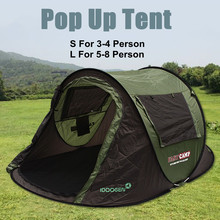 5-8 Person Automatic Camping Tent, Portable Outdoor Sunscreen Shelter, Hiking, Beach, Easy Installation, Waterproof