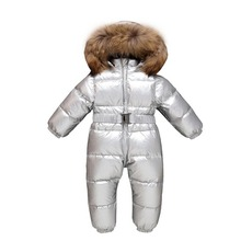 Newborn winter warm down jacket Baby one-piece down